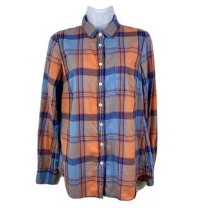 J Crew outlet perfect shirt flannel womens S plaid